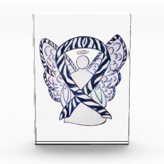 Zebra Stripe Awareness Ribbon Angel Paperweights Award
