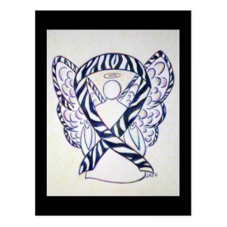 Zebra Stripe Awareness Ribbon Angel Postcards