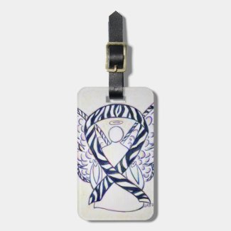 Zebra Stripe Awareness Ribbon Luggage Tag