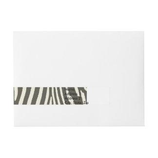 Zebra Stripe Decorative Pattern Wrap Around Address Label