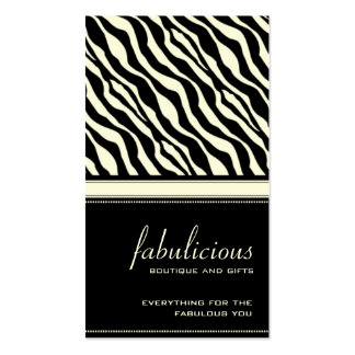 Zebra Stripe Fabulous Business Card