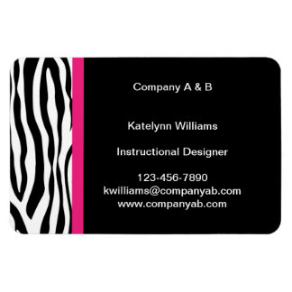 Zebra Stripe Flexible Magnetic Business Cards Magnet