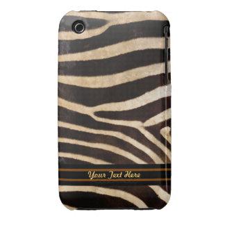 Zebra Stripe Fur 3G Barely There - Personalize iPhone 3 Case-Mate Case
