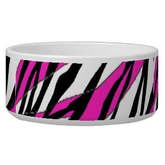 Zebra Stripe Hot Pink Bowl