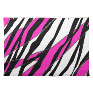 Zebra Stripe Hot Pink Cloth Placemat