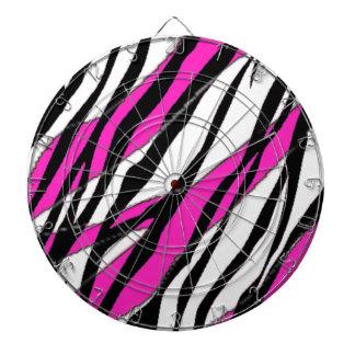 Zebra Stripe Hot Pink Dartboards