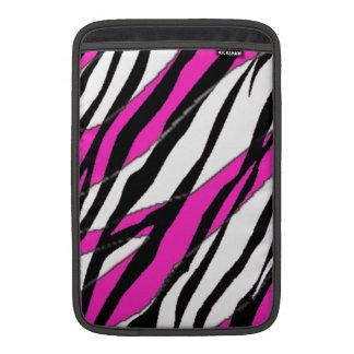 Zebra Stripe Hot Pink MacBook Air Sleeve