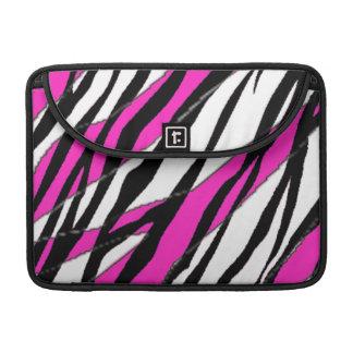 Zebra Stripe Hot Pink MacBook Pro Sleeve