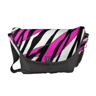 Zebra Stripe Hot Pink Messenger Bag