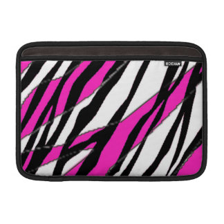 Zebra Stripe Hot Pink Sleeve For MacBook Air
