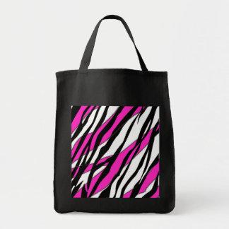 Zebra Stripe Hot Pink Tote Bag