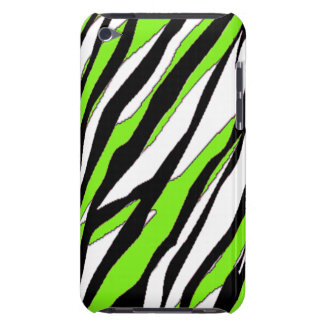 Zebra Stripe Lime Green Barely There iPod Cover