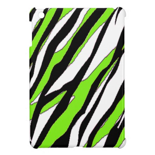 zebra stripe lime green case for the ipad mini zazzle. Black Bedroom Furniture Sets. Home Design Ideas