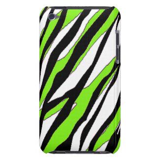 Zebra Stripe Lime Green iPod Touch Case