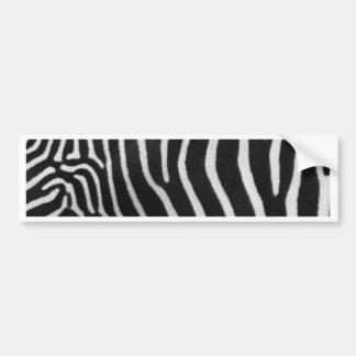 Zebra Stripe Pattern Bumper Sticker Car Bumper Sticker