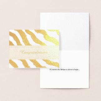 Zebra Stripe Pattern Congratulations Foil Card