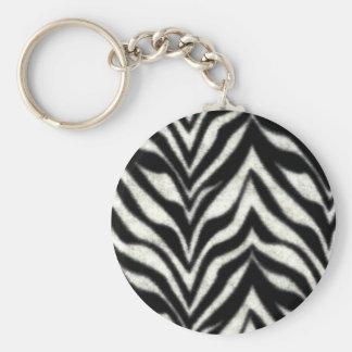 Zebra Stripe Pattern Keychain