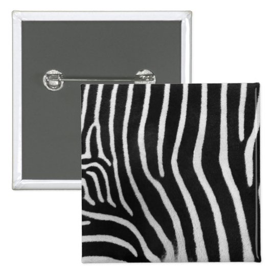 Zebra Stripe Pattern Square Pin