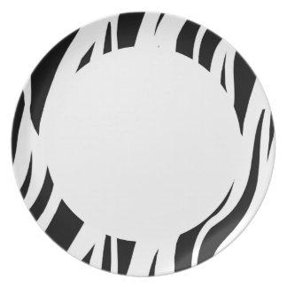 Zebra Stripe Plate