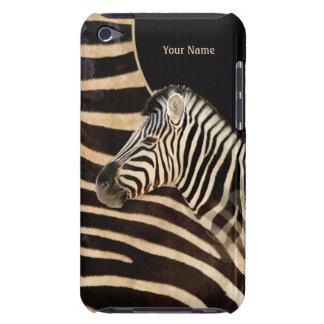 Zebra Stripe Portrait and Fur - Customize iPod Touch Cover
