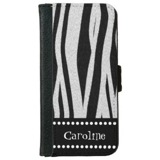 "Zebra Stripe Print ""Add Your Name"" iPhone 6/6s Wallet Case"