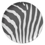 Zebra Stripe Print Pattern - Custom Plates