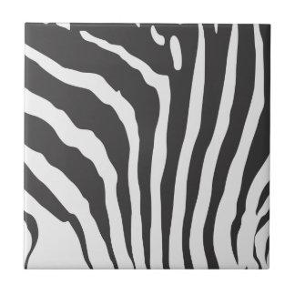 Zebra Stripe Print Pattern : Custom Tile