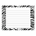 Zebra Stripe Recipe Card Post Cards