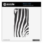 Zebra Stripe Skin Pattern iPhone 4 Custom Skins Decal For The iPhone 4