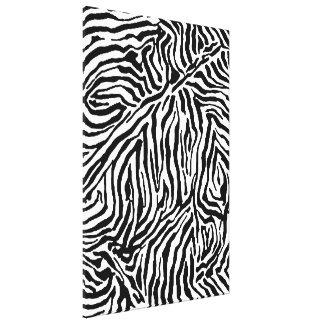 Zebra Stripe Swirls Pattern backgrounds fashion Canvas Print