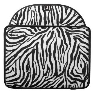 Zebra Stripe Swirls Pattern backgrounds fashion Sleeves For MacBooks