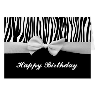 Black And White Zebra Birthday Greeting Cards Zazzle