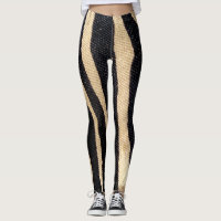 Zebra Stripe Wildlife Animal Print Leg stockings Leggings