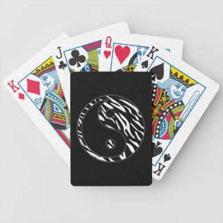 Zebra Stripe Yin Yang Deck of Playing Cards