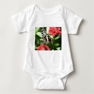 Zebra Striped Butterfly Baby Bodysuit