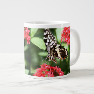 Zebra Striped Butterfly Large Coffee Mug