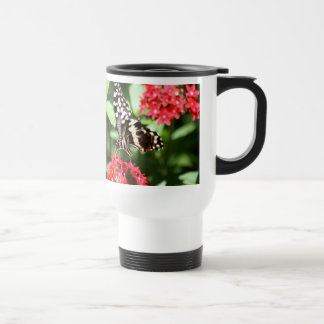 Zebra Striped Butterfly Travel Mug