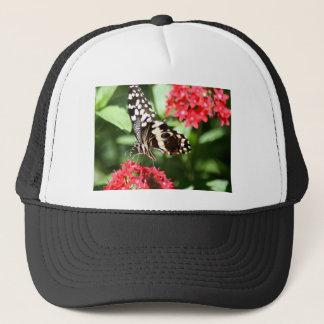 Zebra Striped Butterfly Trucker Hat