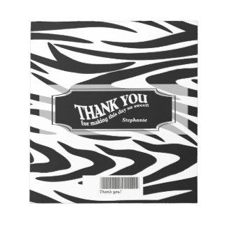 Zebra Striped Candy Bar Wrap Scratch Pad