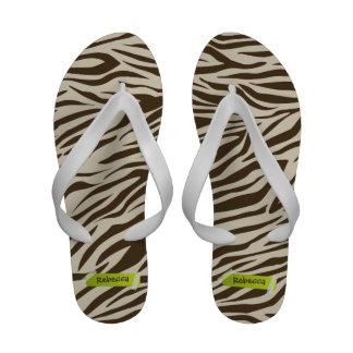 Zebra Striped Pattern - Sticky Tape Name Template Sandals