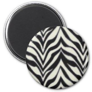 zebra stripes 2 inch round magnet