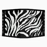 Zebra Stripes 3 Ring Binders