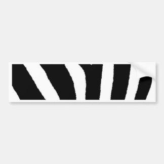 ZEBRA STRIPES (a Black & White design) Bumper Sticker
