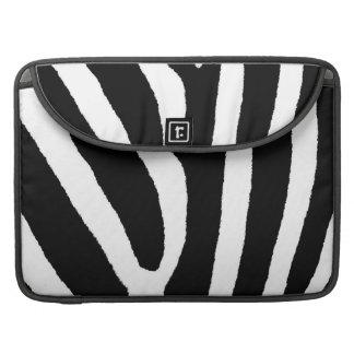 ZEBRA STRIPES (a Black & White design) Sleeve For MacBook Pro
