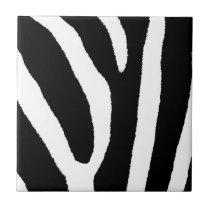 ZEBRA STRIPES (a Black & White design) Tile