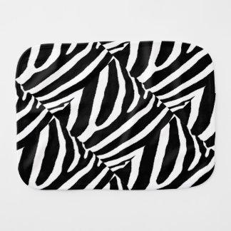 ZEBRA STRIPES (a Black & White design) Baby Burp Cloths
