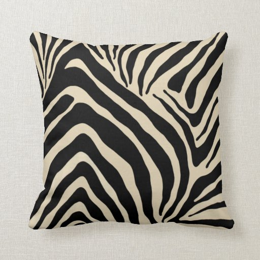Zebra Decorative Pillows : Zebra Stripes American MoJo Throw Pillow Zazzle