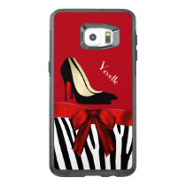 Zebra Stripes and Heels Otterbox S6 Edge Plus OtterBox Samsung Galaxy S6 Edge Plus Case