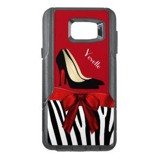 Zebra Stripes and Heels Otterbox Samsung Note 5 OtterBox Samsung Note 5 Case