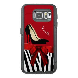 Zebra Stripes and Heels Otterbox Samsung S6 Case